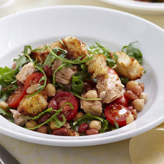 Tuna and Bean Fattoush Salad.