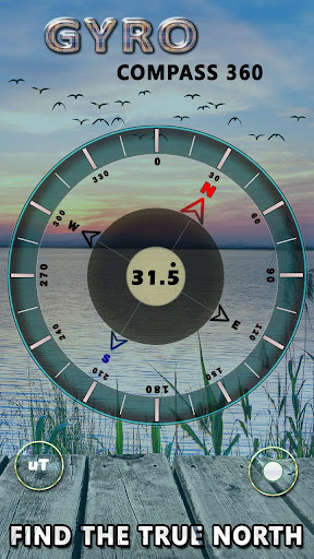 Gyro Compass 3D True North Finder with GPS Maps screenshot 2