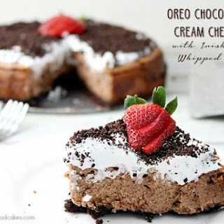Oreo Chocolate Irish Cream Cheesecake with Irish Cream Whipped Cream