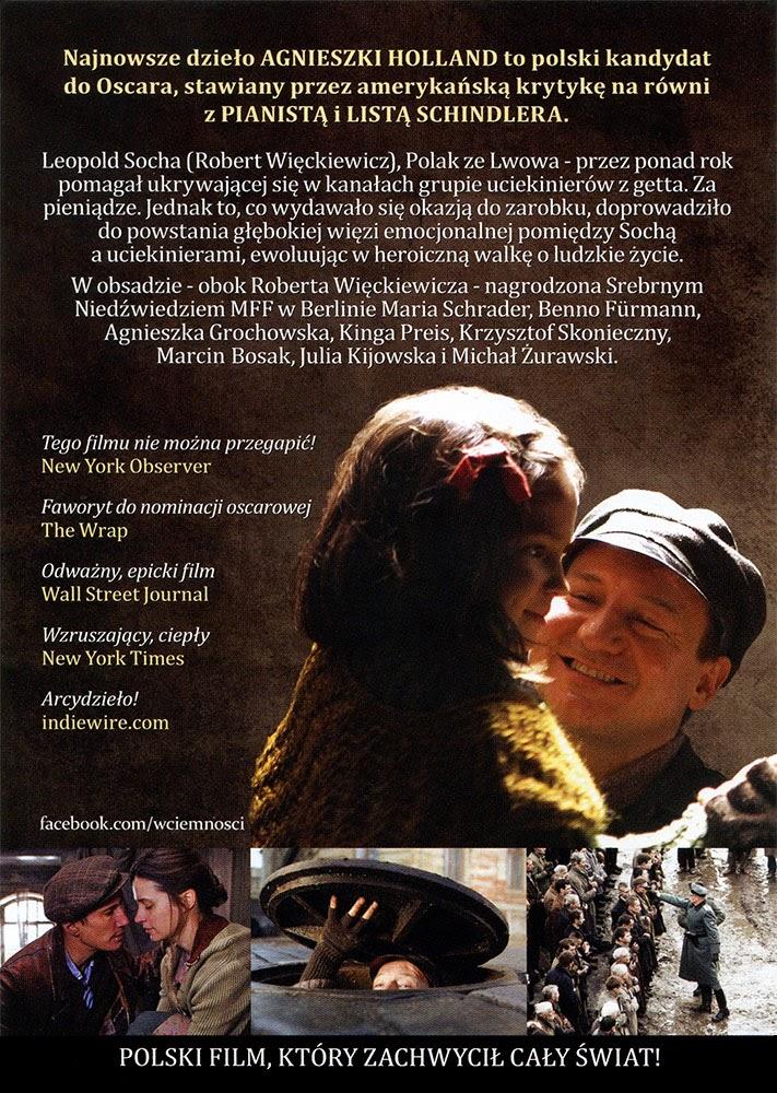 Ulotka filmu 'W Ciemności (tył)'