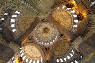 Photo: Beyazit mečetės skliautai.   Beyazit mosque vaults.