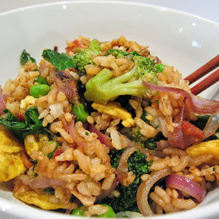 Springtime Bacon & Egg Fried Rice