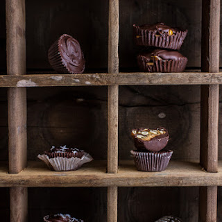 Mini Pumpkin Seed Candy Chocolate Peanut Butter Cups..
