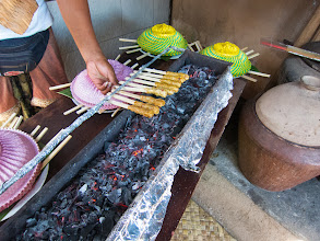 Photo: Grilling the sate