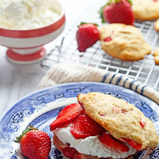 Strawberry Shortcakes made with Strawberry Biscuits