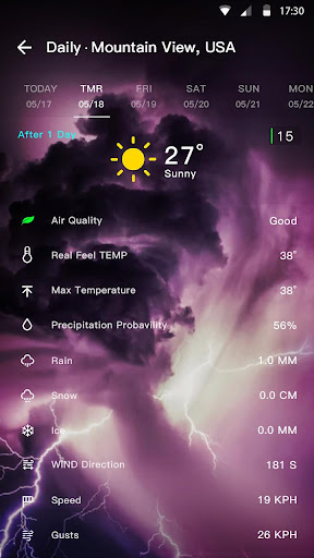 Weather Forecast 1.0.5.1 screenshots 2