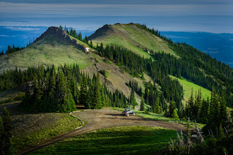 Photo: BREAKING NEWS...  I interrupt your regularly scheduled program to inform you... that this is where I presently am. Deer Park, Olympic National Park.  And reception is pretty good... internet is kinda slow though, took a minute to upload the picture.  Ok well this picture is somewhat of a lie that was taken like 2hrs ago when I climbed up to the peak. That was before I hiked back down to the car and uploaded the pictures to the computer.  It was also before I took that 2hr nap. It was also before the other car showed up in the parking lot. But I guess you could say this is what my morning has looked like.  Now I'll do some work on the computer for a bit (pictures and +Photography Decathlon  stuff)  Naps are an important tool The nap was very good because last night I was shooting until midnight and I tried to drive to this location late at night to be ready for the sunrise but was soooo tired I couldn't drive had to pull off to the side of the road in some random location and sleep. So i guess naps are part of the job description. Yes... I did miss the sunrise at 5am but i'm trying to not be so sad about that. haha I guess another option would be to have someone along to share driving responsibilities. But since I don't... naps.  Different experience This photo-trip is a different experience than most because usually I'm rushing to get somewhere or wanting to shoot all day long. But because +Photography Decathlon  is the #1 priority I can set up shop somewhere and take it easy during the day and really just focus on sunrise and sunset type pictures.  This concludes the end of my ramblings from the back of the Venza/car here on top of Deer Park in the Olympic national park.