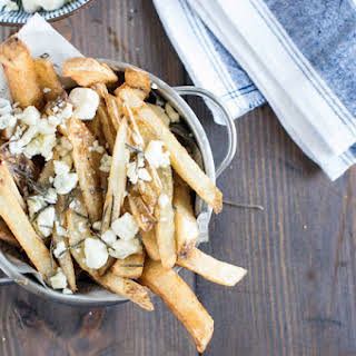 Hand Cut Fries with Truffle Oil & Blue Cheese.