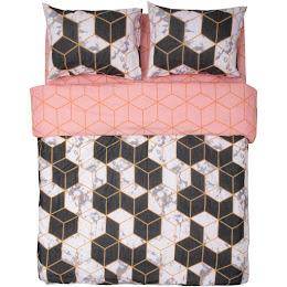 Lenjerie de pat, bumbac 100%, 180x200, model Cubic
