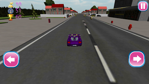 Girls Car Traffic Race 3D