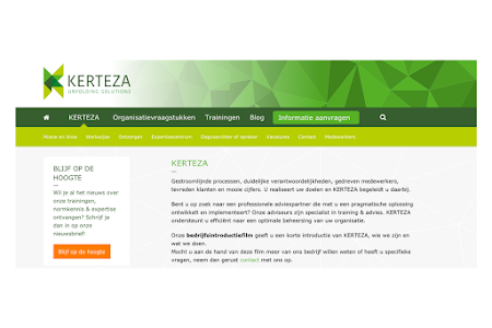 Marketingplan en teksten nieuwe website KERTEZA