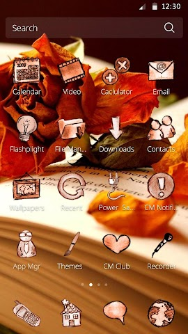 android Book and Flower DIY Theme Screenshot 2