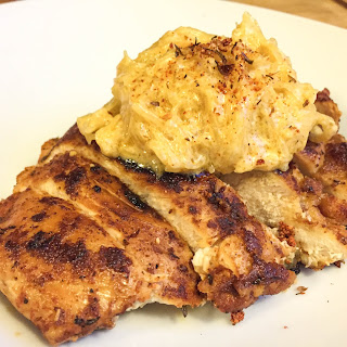 Roasted Cajun Chicken and Creamy Spaghetti Squash