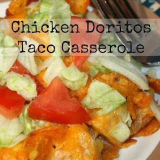 Chicken Doritos Taco Casserole.