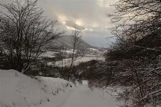 Photo: Už tesne nad Terchovou sneženie na chvíľu ustalo, údolie Varínky