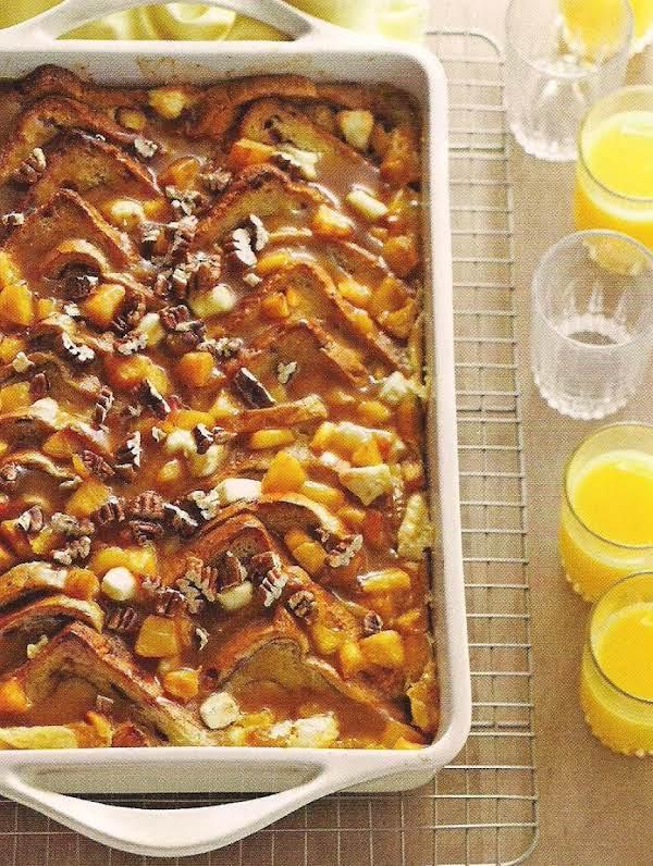 Peaches And Cream Bread Pudding