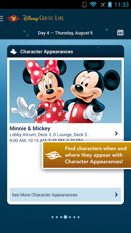 Disney Cruise Line Navigator - screenshot