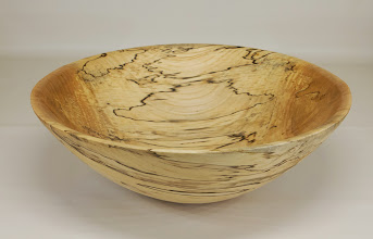 "Photo: Jeff Tate 14"" x 5"" Halloween candy bowl [spalted maple]"