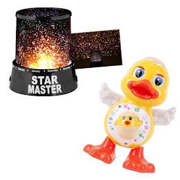 Proiector astronomic Star Master + Ratusca dansatoare cu lumini si sunete