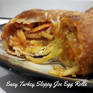 Easy Turkey Sloppy Joe Egg Rolls.