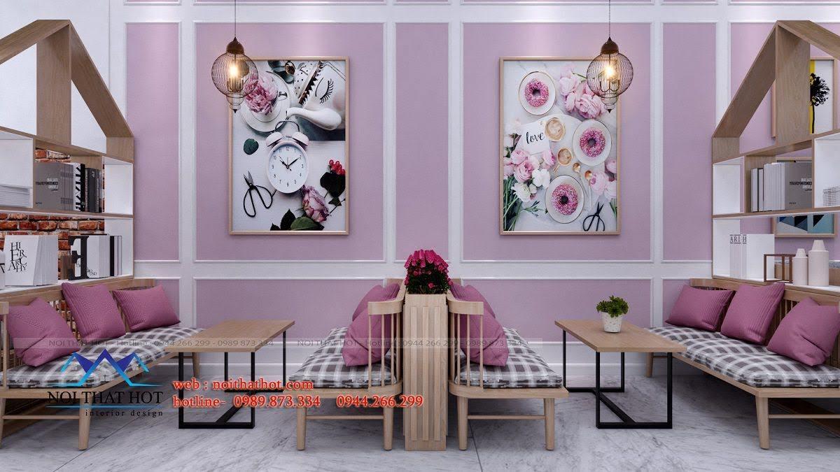 thiết kế quán trà sữa hei tea 13