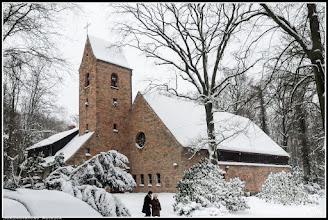 Photo: Die im 19. Jahrhundert abgebrochene Johannis-Kirche in Rostock lag nicht weit vom Steintor in nordwestlicher Richtung. Im Jahre 1949 erfolgte ein Neubau nach den Entwürfen des Otto Bartning im Barnstorfer Wald.