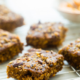 Pumpkin Oatmeal Breakfast Bars In the Slow Cooker