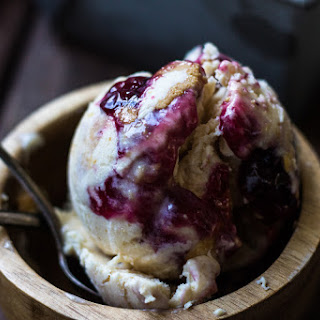 Peanut Butter and Jelly Ice Cream.