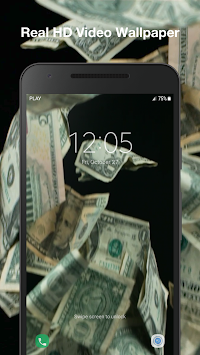 3D Falling Money Live Wallpaper Poster