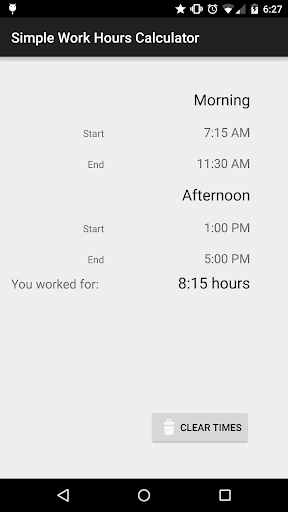 Simple Work Hours Calculator