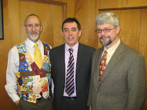 Photo: Micheal Young, Robert Burns and Keith Delaplane