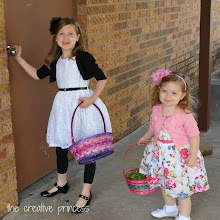 Photo: After our fun Easter morning at home, we were off to have a fun Easter morning at church.