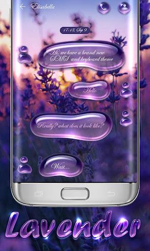 GO SMS LAVENDER THEME screenshot