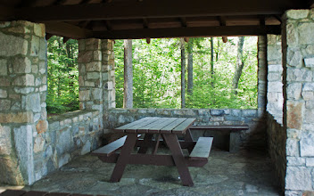 Photo: Inside the picnic pavilion at Mt. Ascutney State Park by Paul Anderson