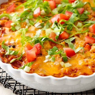 Skinny Mexican Chicken Casserole.