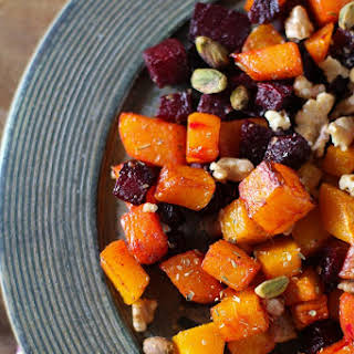 Maple Roasted Butternut Squash and Beets.