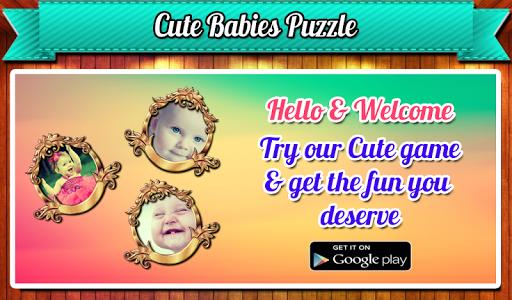 Cute Babies Jigsaw Tile Puzzle