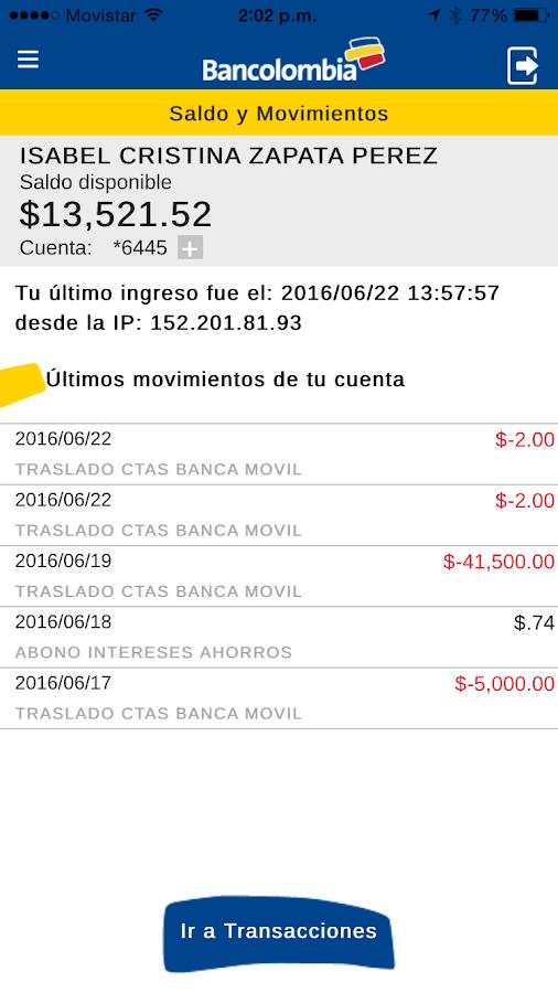 Bancolombia consultar saldo cuenta de ahorros por internet for Banesco online consulta de saldo cuenta de ahorro