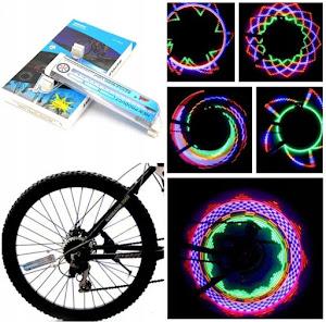Set 2 x LED cu lumini pentru roata bicicleta