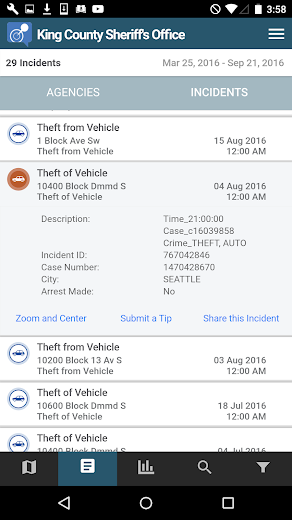 Screenshot 3 for CrimeReports's Android app'