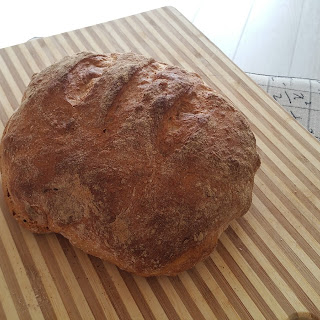 Whole Wheat No-Knead Bread.