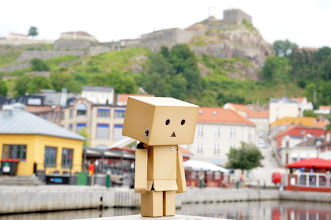 Photo: Danbo in Halden harbour.Halden marina is located virtually in the middle of town, the fortress as a towering and great setting.