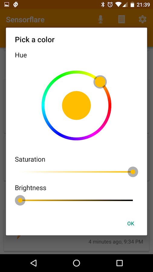 Sensorflare for Android- screenshot