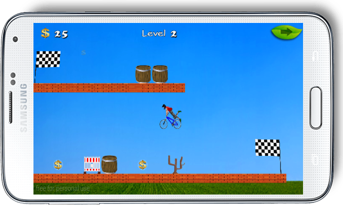 android The Rich Bicyclist Adventure Screenshot 3
