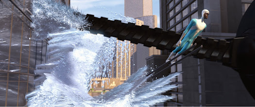 Photo: Frozone in a scene from THE INCREDIBLES.