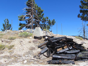 Photo: 1:30 - South Mount Hawkins (7783'). Ruins of fire the lookout