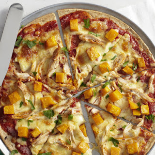 Chicken and Roasted Butternut Squash Pizzas