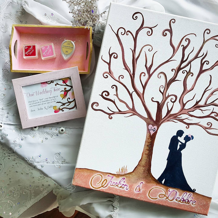 Personalized Our Wedding Tree Guestbook Set by The Artsy Craftsy