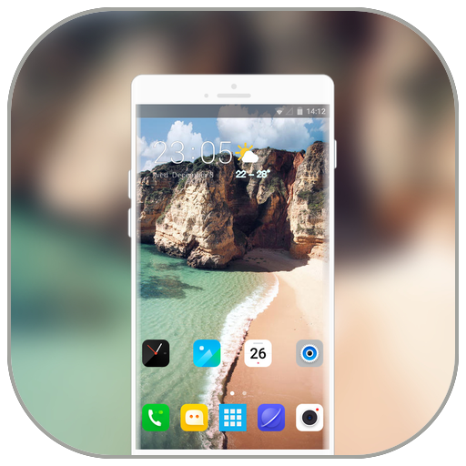 Theme for oneplus6T nature cliff wallpaper icon