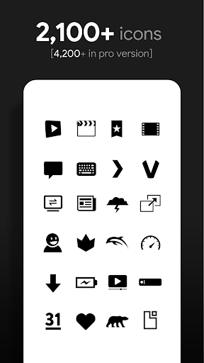 Flight Dark - Flat Icons (Free Version) screenshots 2